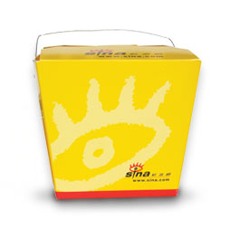 Sina.com package design take out box delivering chinese online