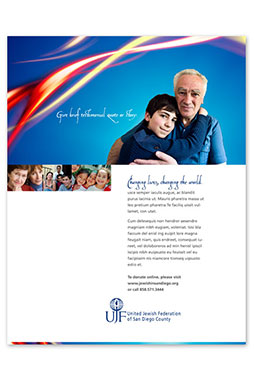 United Jewish Federation of San Diego branding advertising brochure website design
