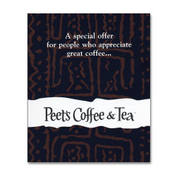 Peets Coffee & Tea branding direct mail campaign